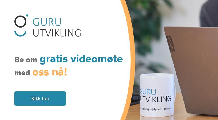 Book gratis videomøte med Guru Utvikling